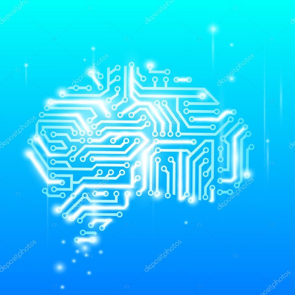 the human brain as a computer chip — Stock Vector © vantuz #60150549