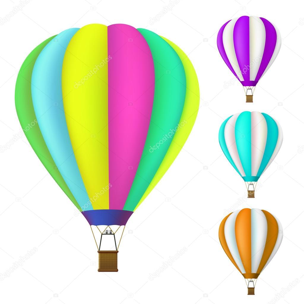 set of colorful Hot air balloon