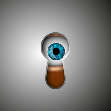 the human eye in the keyhole