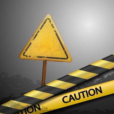 Metal warning sign