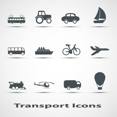 Set of vector icons of transport