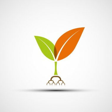 Logo plants with colorful leaves.
