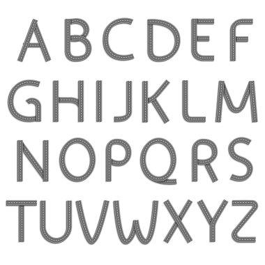 Font. Stock illustration.