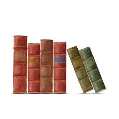 old books. Stock illustration.
