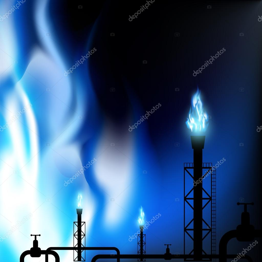 Industrial background. Stock illustration.