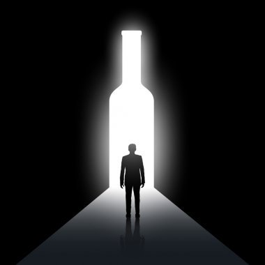 Alcoholism. Abstract concept