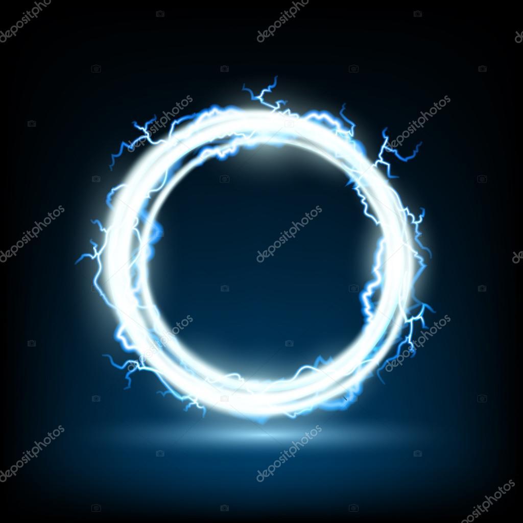 r u00e9sum u00e9 cadre rond avec d u00e9charges  u00e9lectriques  u2014 image vectorielle vantuz  u00a9  88563166