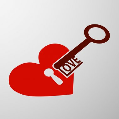 heart with a keyhole and key