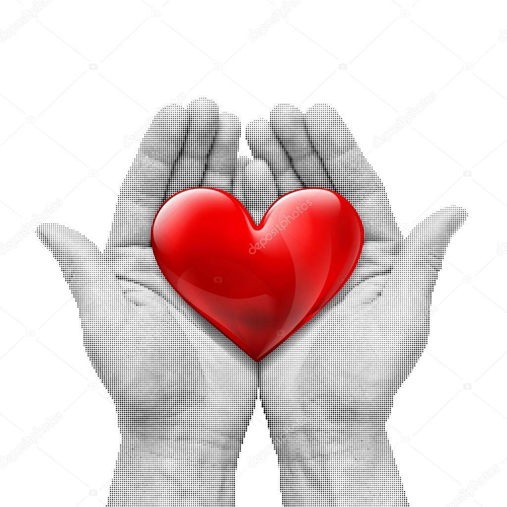 Menschliches Herz rot — Stockvektor © vantuz #94793436