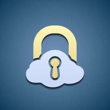 Icon cloud. Data storage.