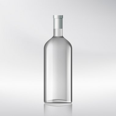 Bottle with alcohol.