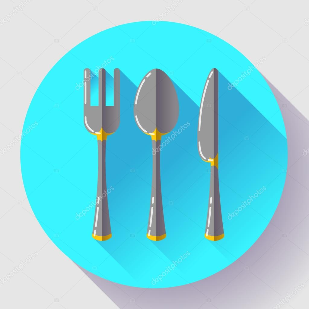 Platos cuchara cuchillo y tenedor icono dise o vector for Plato tenedor y cuchillo