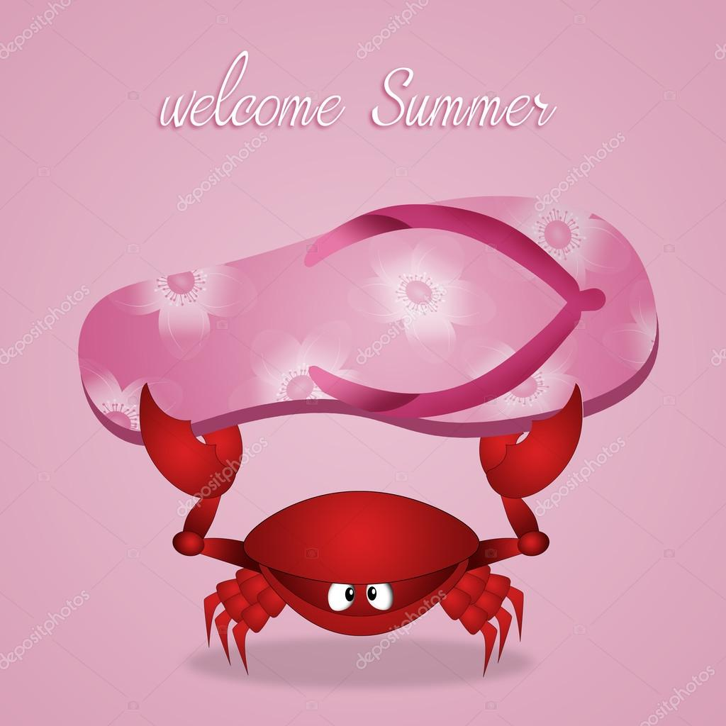 Faites des phrases ! - Page 5 Depositphotos_106991202-stock-photo-funny-crab-with-flip-flops