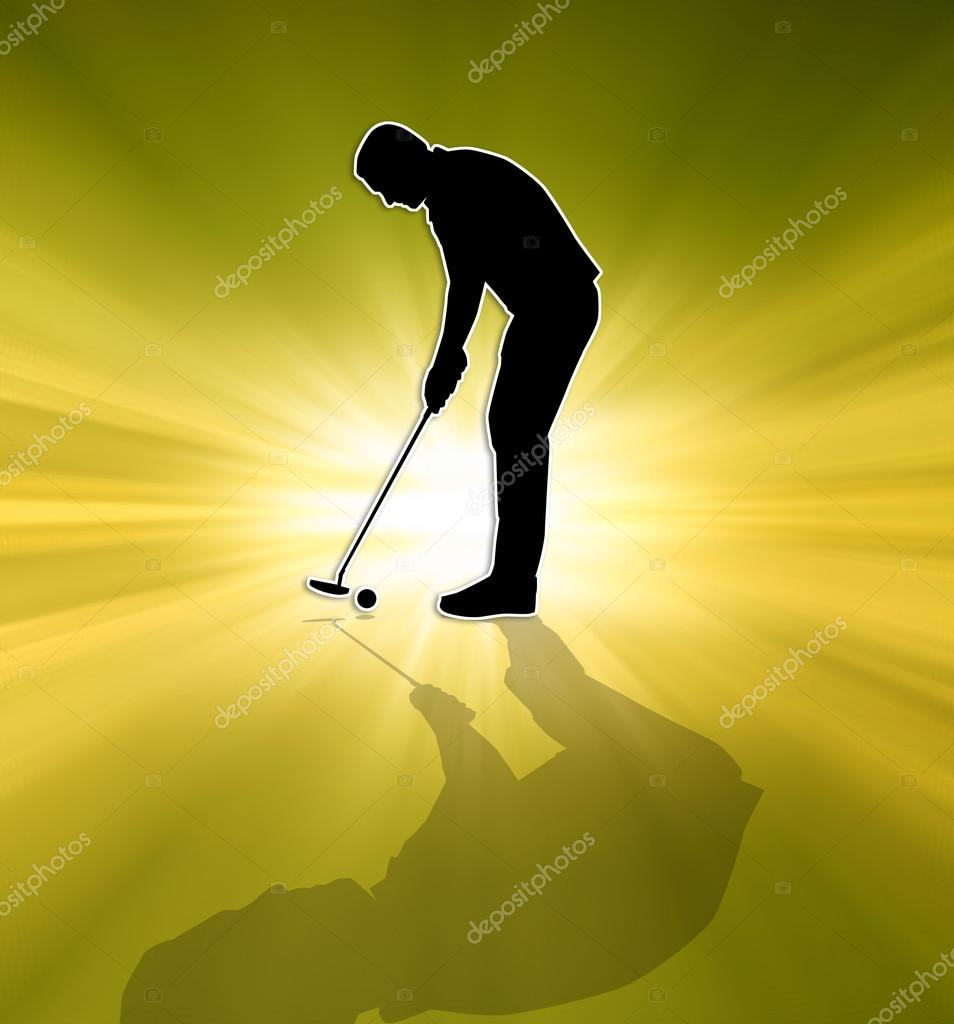 Golfer Silhouette Stockfoto C Sognolucido 54637807