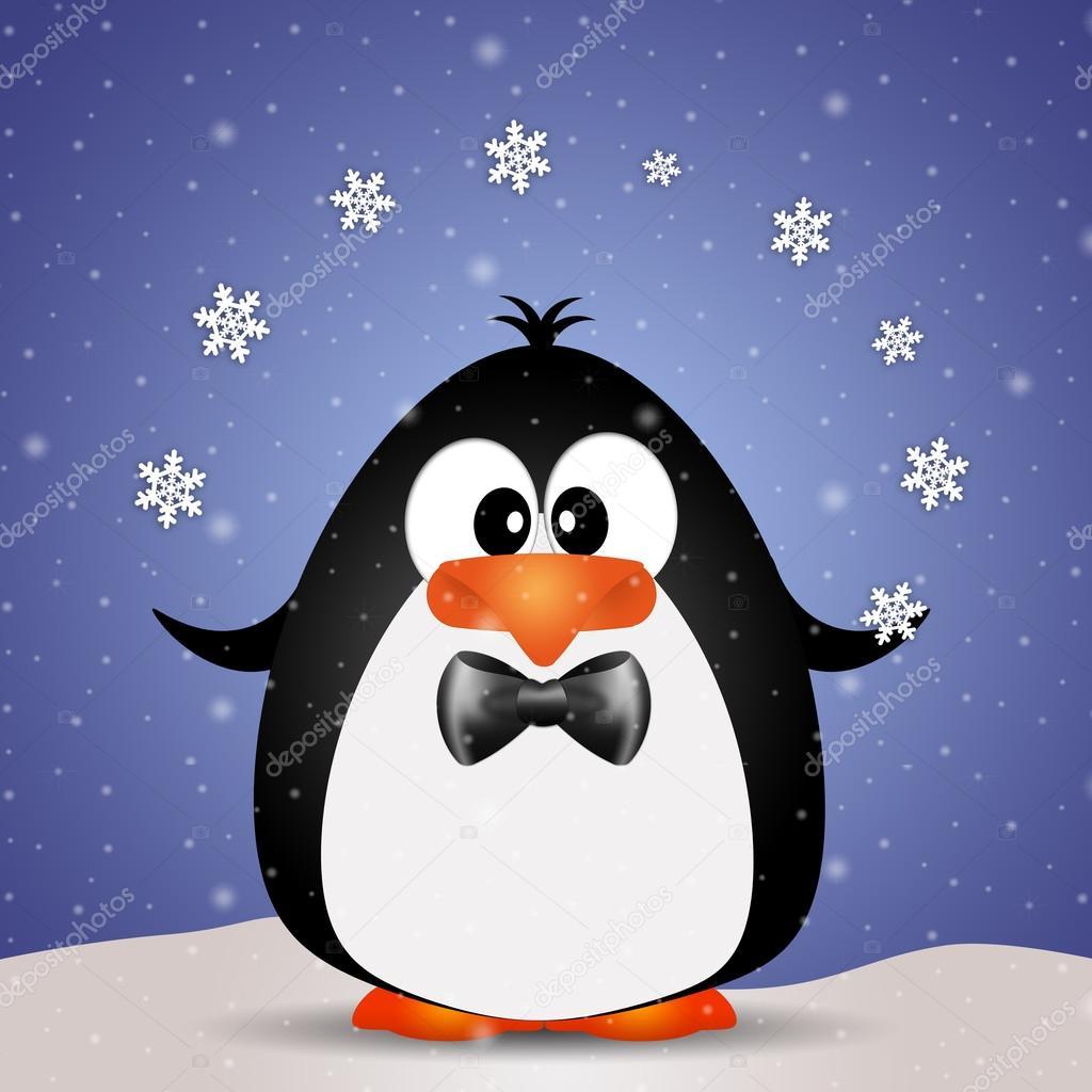Рисунки пингвина прикольные
