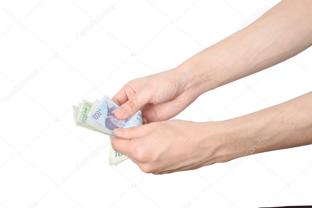 Koreanische Rechnungen Zählen Stockfoto Jipen 66861687
