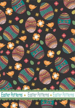 Easter pattern vector