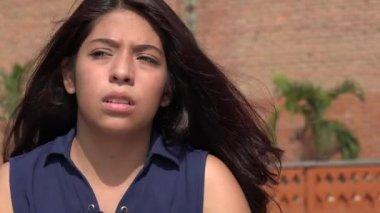 Angry People Angry Teen Girl Stock Video