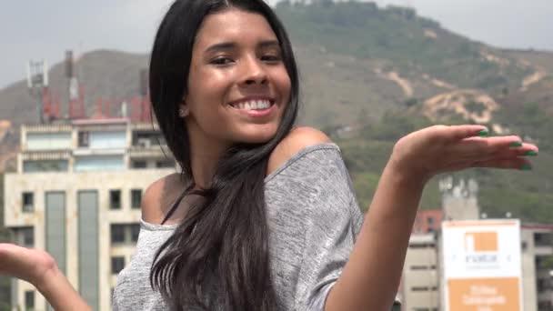 Pretty Urban Teen Girl Smiling