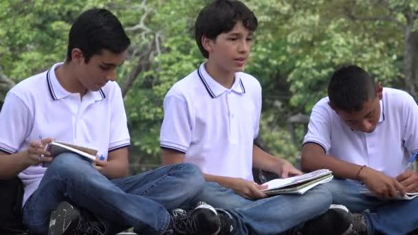Teen studentů studuje