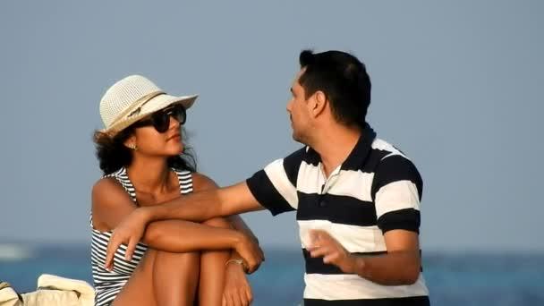 Couple On Vacation Or Honeymoon