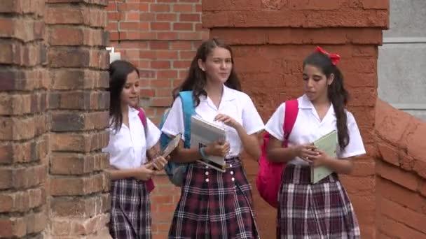 Šťastné Teen studentek s knihami