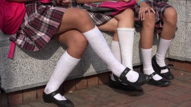 Girls Wearing Skirts And White Socks