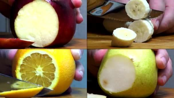 ovoce, jablka, pomeranče, banány, hrušky