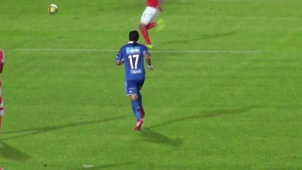 14 března 2014 - Bogota, Kolumbie - fotbalista ukládání Ball