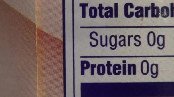 Ingredients, Nutritional Information, Sugars