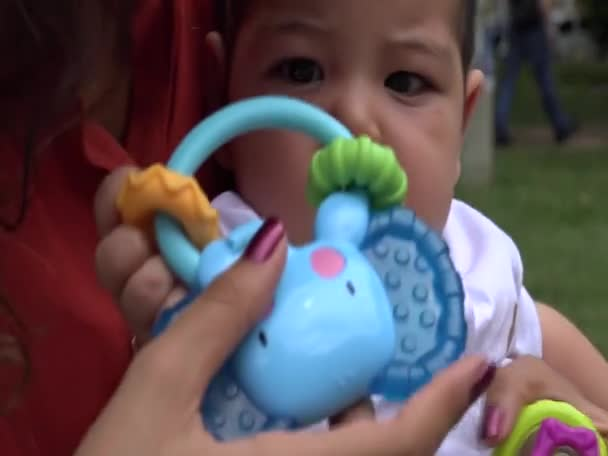 Baby With Toys, Infant Toys, Newborn Playing