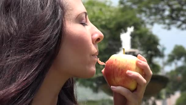 Woman Eating an Apple, Fruit