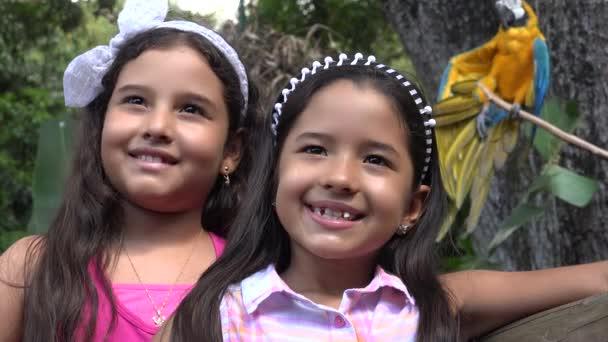 Sestry nebo přátelé s papoušek