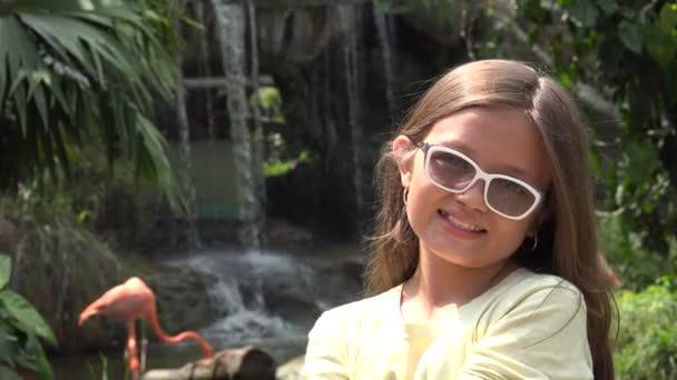 Teen Girl Posing at Waterfall