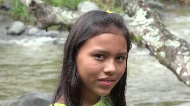 Smiling Hispanic  Girl with Braces