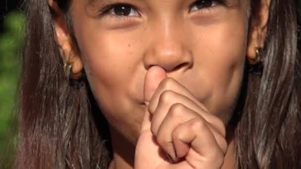 Dívku jíst lízátko Candy