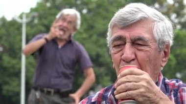 8ce10cf88be Mocking Depressed Alcoholic Man — Stock Video