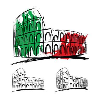 Vector coliseum on white background