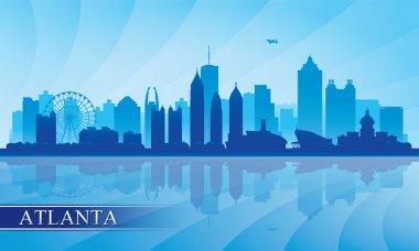 Atlanta city skyline silhouette background