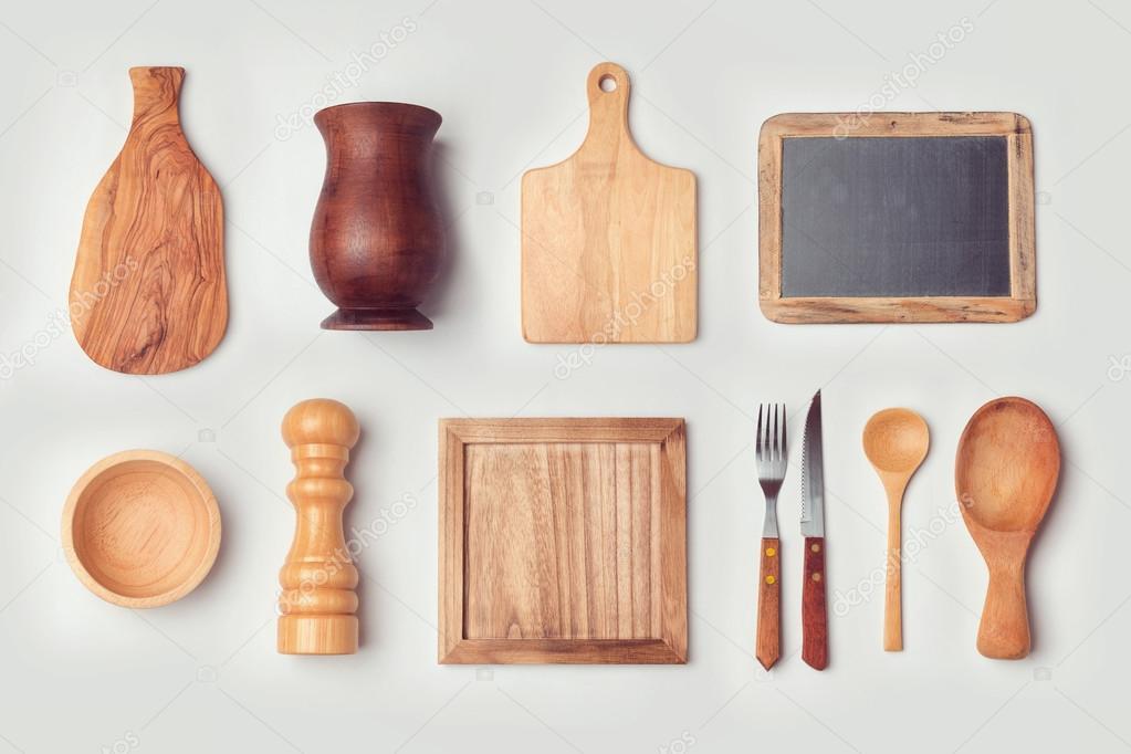Oggetti di cucina in legno — Foto Stock © maglara #101191592