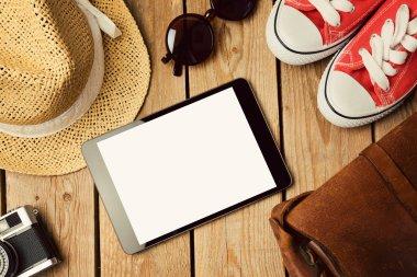 Digital tablet mock up template