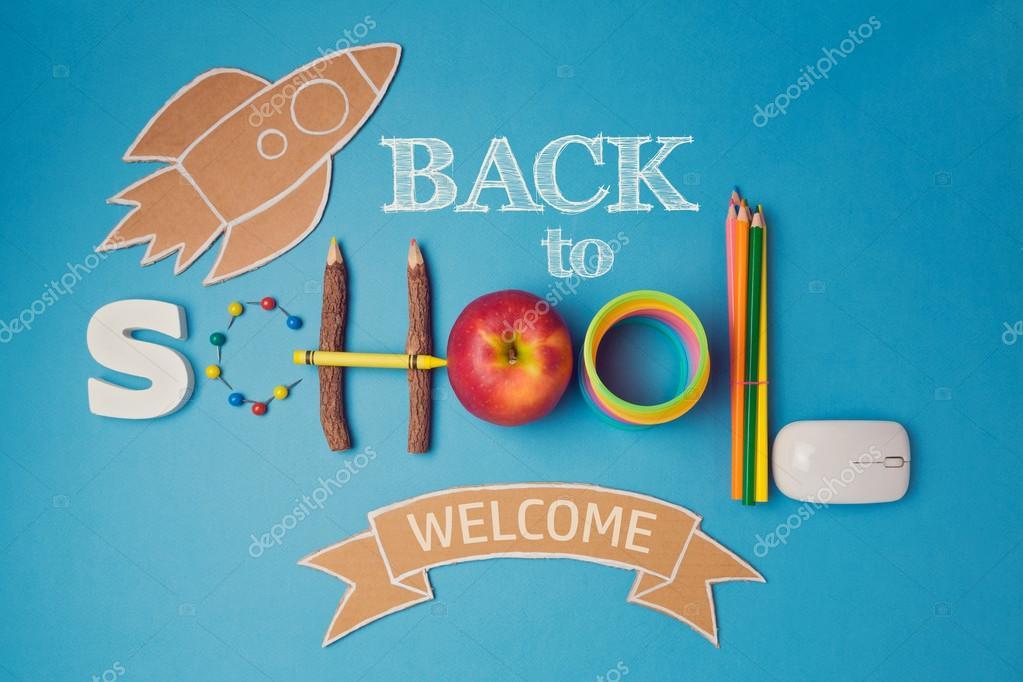 Zurück zu Schule kreative Gestaltung — Stockfoto © maglara #113160542