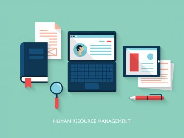 Illustration concept of human resource management