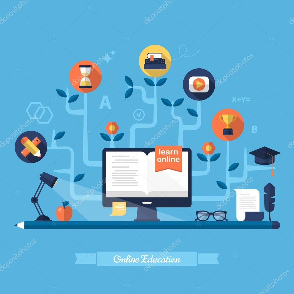 Illustration for e-learning and online education