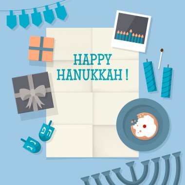Illustration for Hanukkah holiday celebration