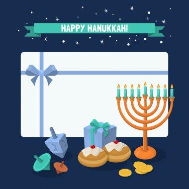 Jewish Holiday Hanukkah elements