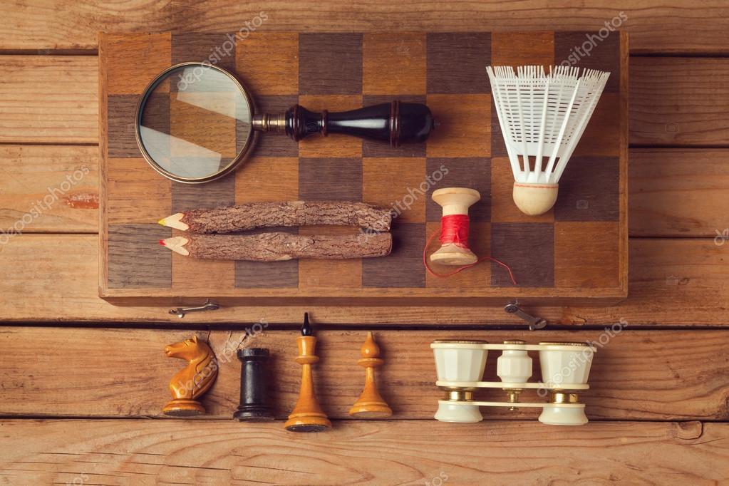 Fesselnd Vintage Und Moderne Objekte Sammlung U2014 Stockfoto
