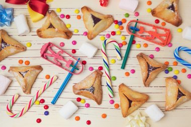 Handmade cookies with candy