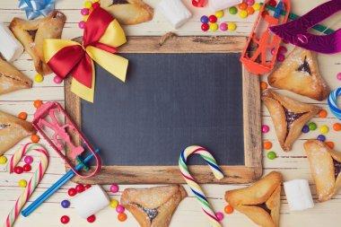 Handmade cookies and chalkboard