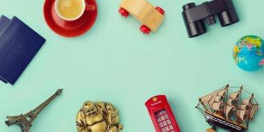 Travel concept mock up design